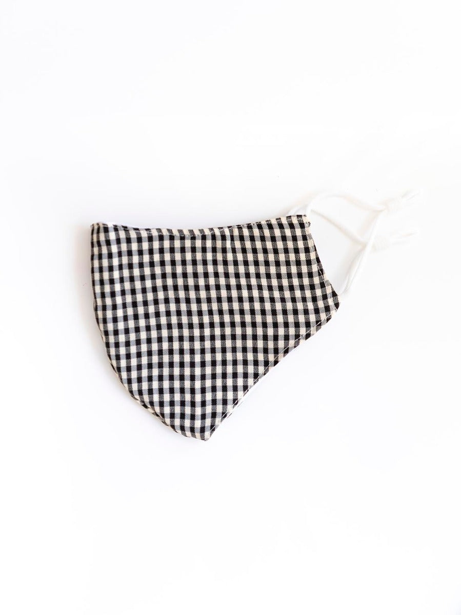 Black Gingham - Face Mask