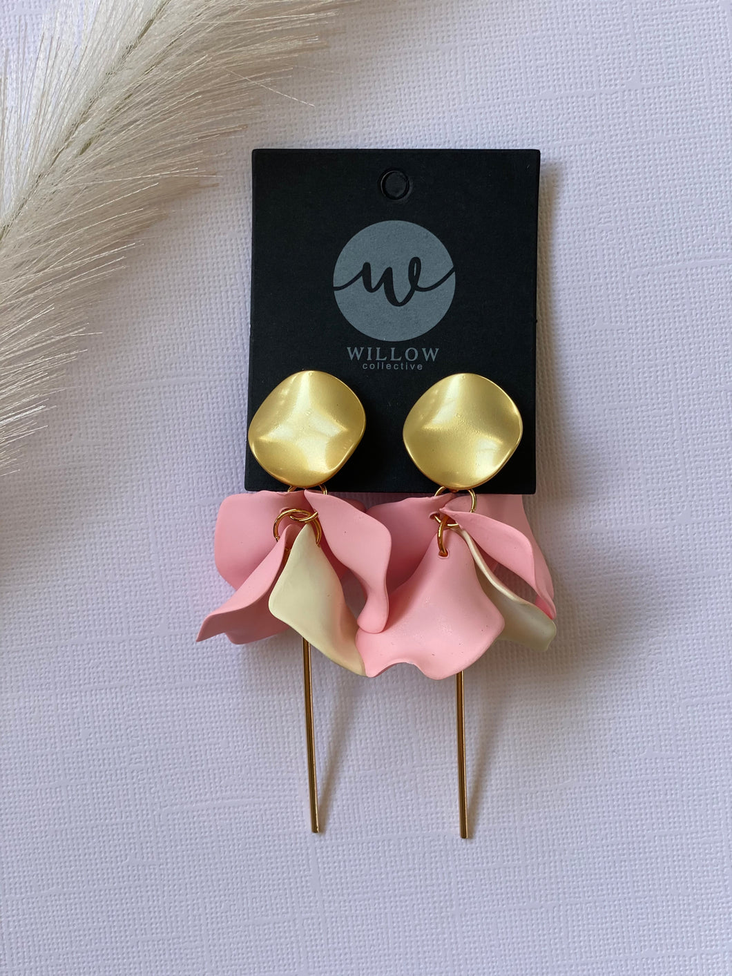 Pink & Cream - Wildflower Dangles