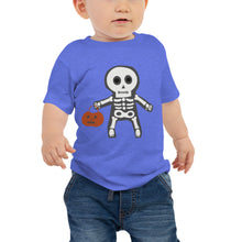 Load image into Gallery viewer, Trick or Treat Skeleton - Baby Jersey Short Sleeve Tee