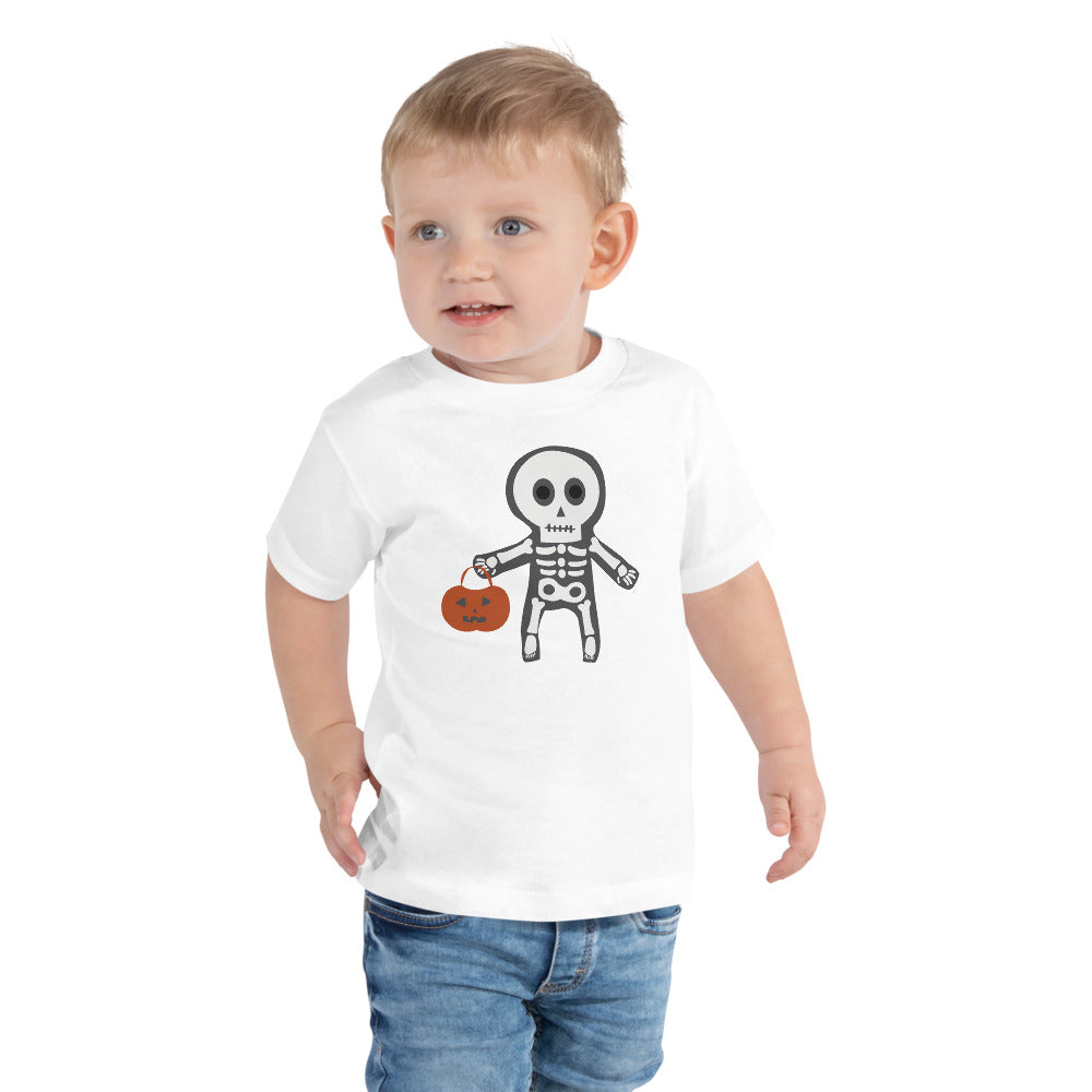 Trick or Treat Skeleton - Toddler Short Sleeve Tee
