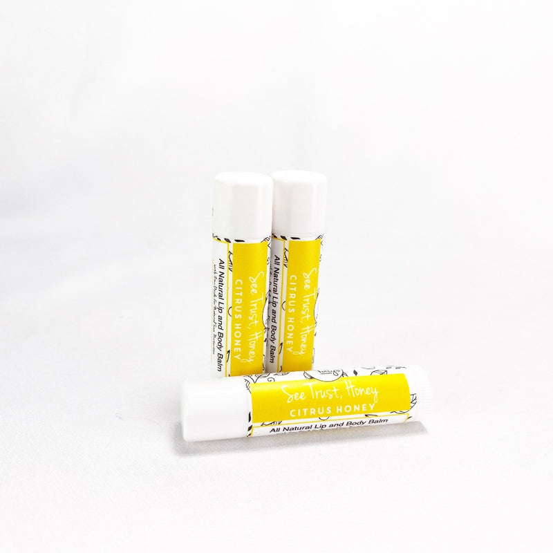 See trust honey lip balms - Citrus Honey