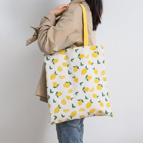 Reversible Fruit Tote Bag