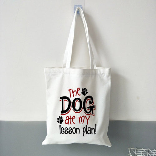 Dog Ate Lesson Plan Tote Bag