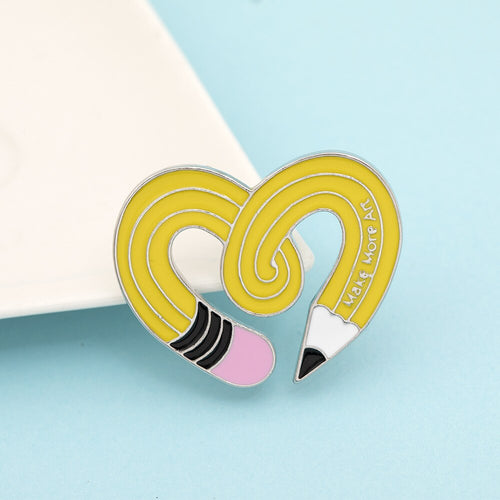 Pencil Art Enamel Pin