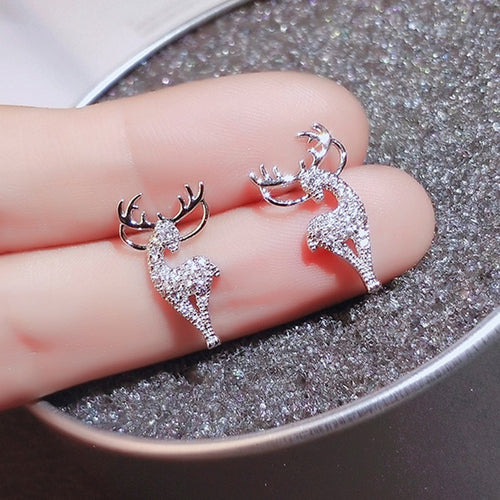 Elk Crystal Deer Stud Earrings