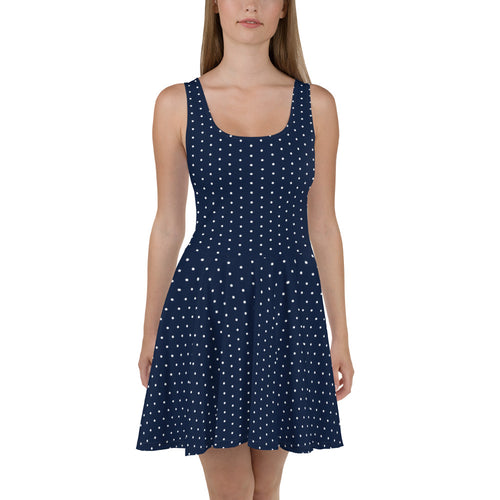 Blue Polka Skater Dress