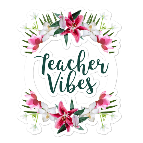 Teacher Vibes Sticker