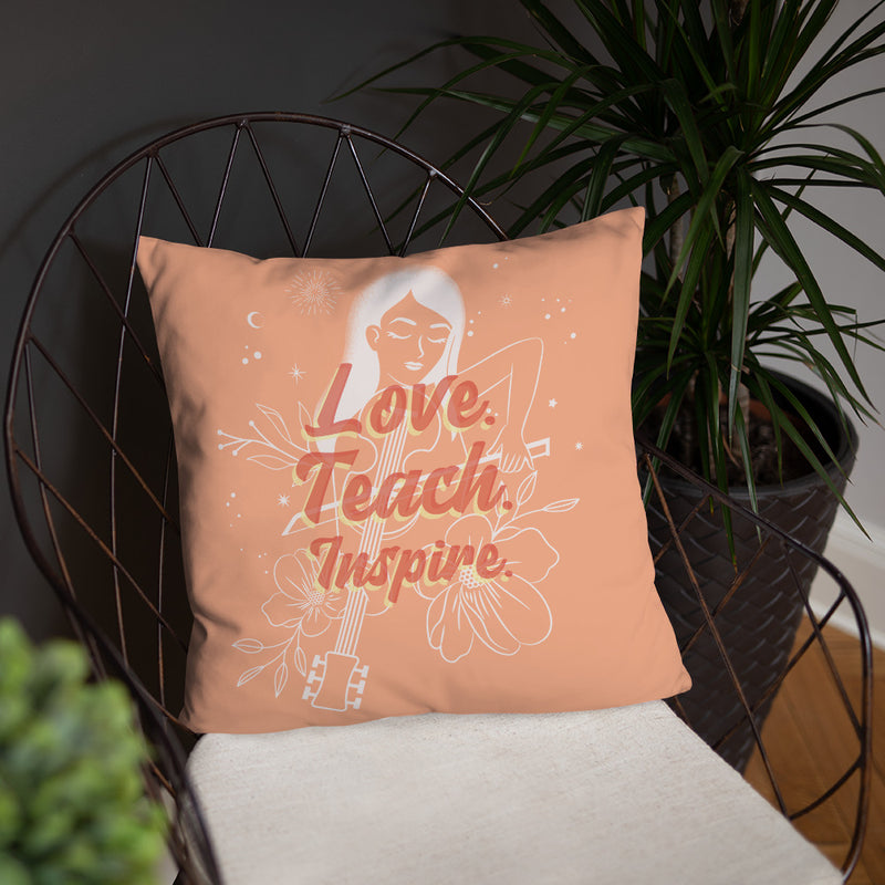 "Orange Inspired 18"" x 18"" Throw Pillow"