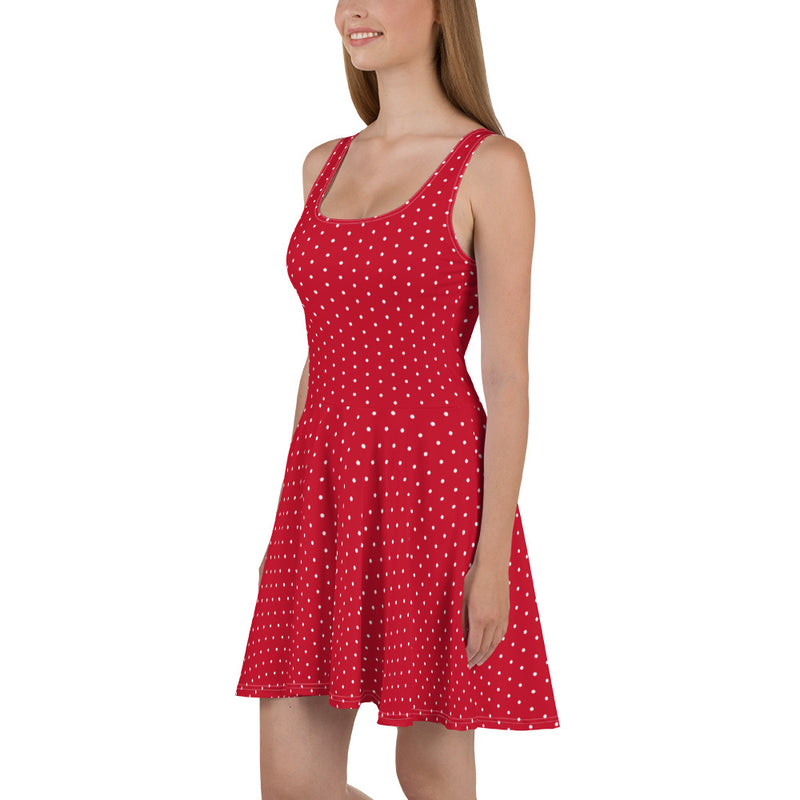 Red Polka Skater Dress