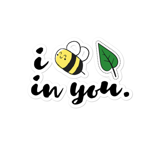 Bee Leaf Sticker