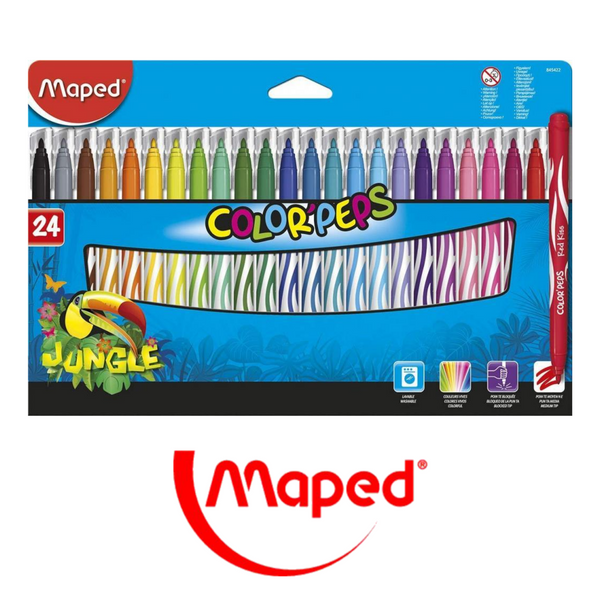 ROTULADORES MAPED COLOR'PEPS JUNGLE INNOVATION - PACK 12-24