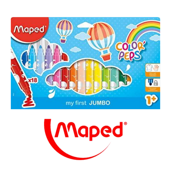 ROTULADORES MAPED COLOR'PEPS MY FIRST JUMBO - PACK 12-18