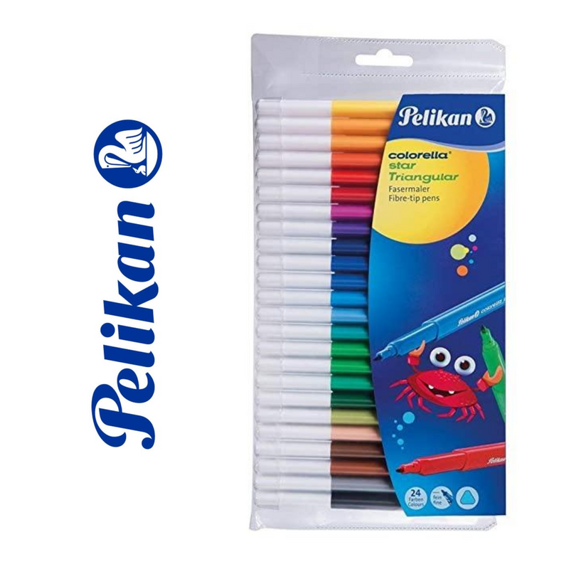 ROTULADORES PELIKAN COLORELLA STAR TRIANGULAR - PACK 24