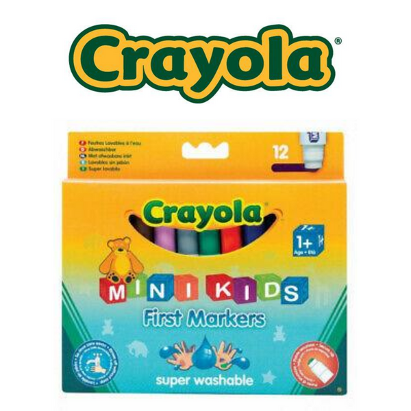 ROTULADORES CRAYOLA MIN IKIDS  FIRST MARKERS - PACK 12