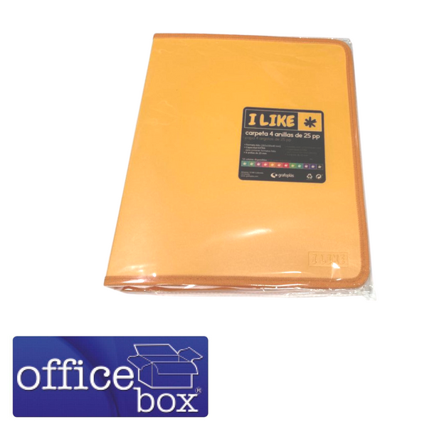 CARPETA OFFICE BOX 4 ANILLAS
