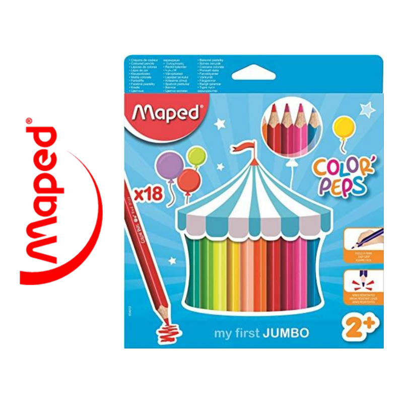 LÁPIZ DE COLOR MAPED COLOR'PEPS MY FIRST JUMBO
