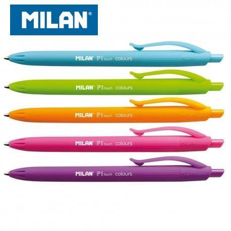 BOLÍGRAFO MILAN P1 TOUCH COLOURS RETRACTIL PUNTA MEDIA (1,0mm) TRAZO (0,4MM)
