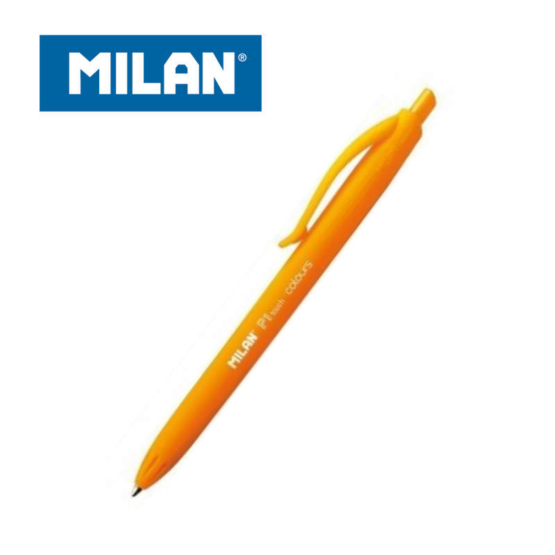 BOLÍGRAFO MILAN P1 TOUCH COLOURS RETRACTIL PUNTA MEDIA (1,0mm) TRAZO (0,4MM) - Papereria Rocher