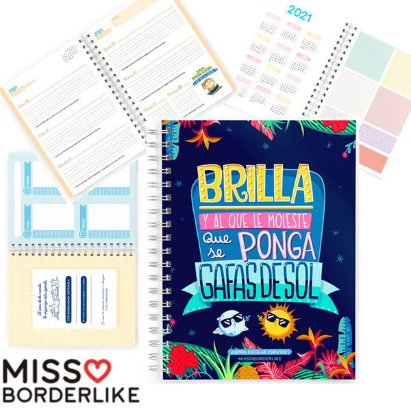 AGENDA MISS BORDER LIKE SEMANA VISTA CURSO ESCOLAR