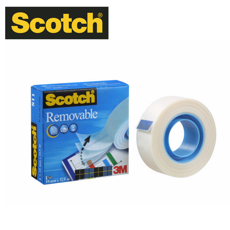 CINTA ADHESIVA SCOTCH REMOVIBLE - 19 mm X 32,9 m - Papereria Rocher