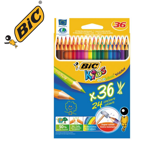 LÁPIZ DE COLOR BIC KIDS ECOLUTIONS EVOLUTION - Papereria Rocher