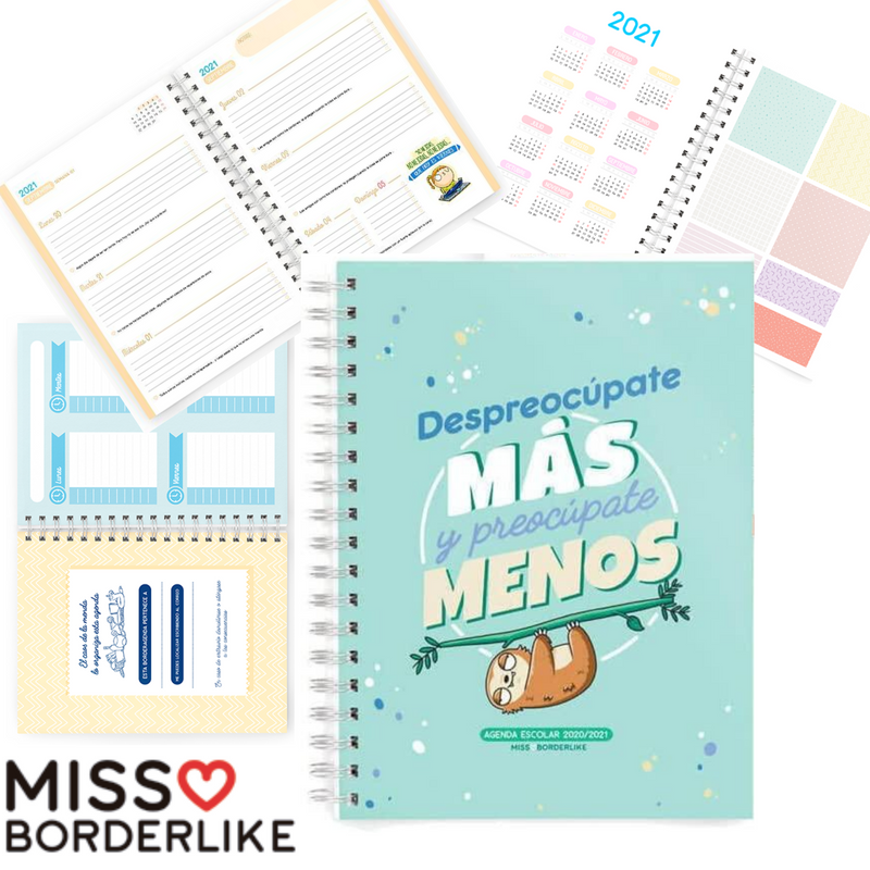 AGENDA MISS BORDER LIKE SEMANA VISTA CURSO ESCOLAR - Papereria Rocher