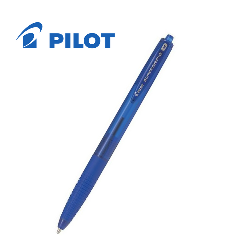 BOLÍGRAFO PILOT SUPERGRIP G PUNTA RETRACTIL (1,0mm) TRAZO (0,4mm)