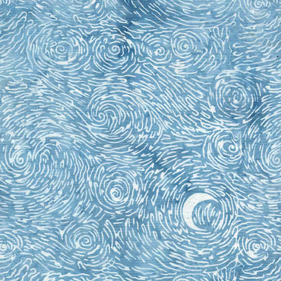 NEW! Island Batiks--Starry Night--Starry Night Cloud<br><STRONG>$11.80/YARD</strong><br>$2.95/Quarter Yard