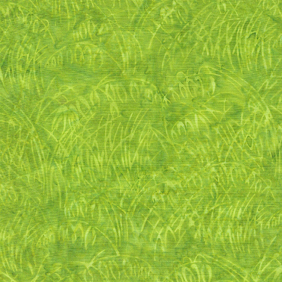 NEW! Island Batiks--Vincent's Garden--Wheat Field-Green Apple<br><STRONG>$11.80/YARD</strong><br>$2.95/Quarter Yard