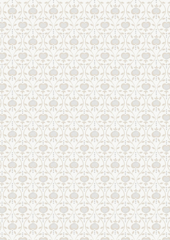 Lewis & Irene Michaelmas--Hearts on Cream<br><STRONG>$9.96/YARD</strong><br>$2.49/Quarter Yard
