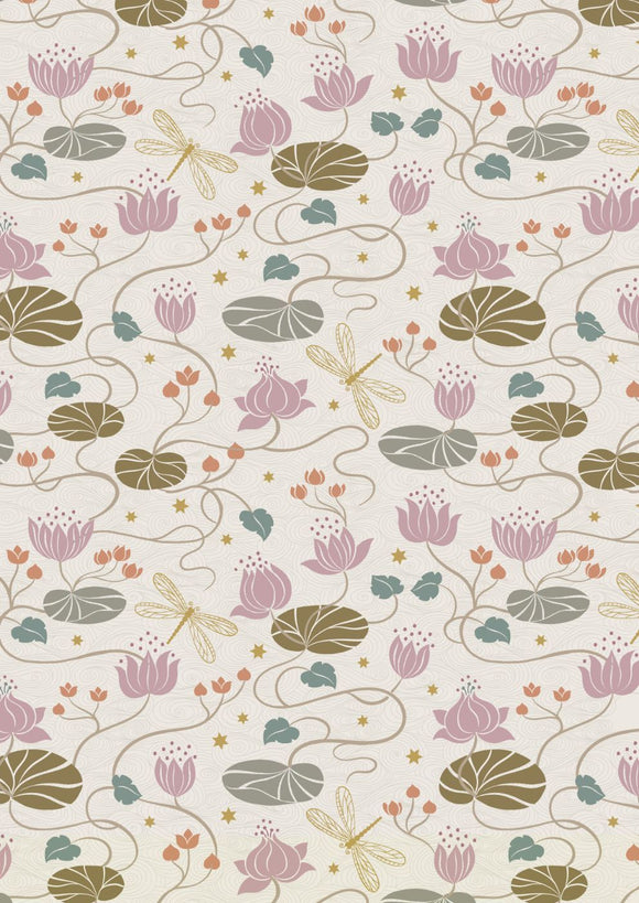 Lewis & Irene Jardin de Lis--Lilies on Cream<br><STRONG>$9.96/YARD</strong><br>$2.49/Quarter Yard