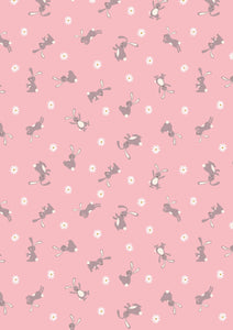 Lewis & Irene Bunny Hop--Bunny on Pink<br><STRONG>$9.96/YARD</strong><br>$2.49/Quarter Yard
