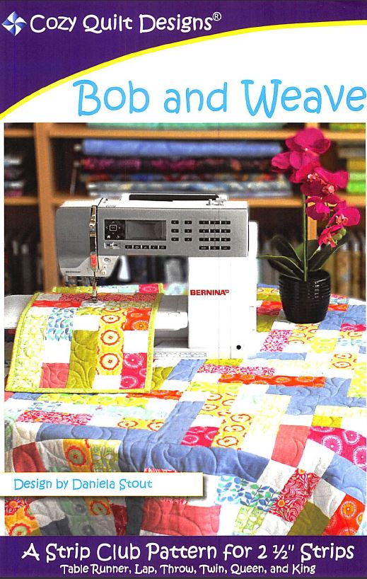 Cozy Quilt Designs Bob And Weave Pattern <BR> Click for fabric requirements