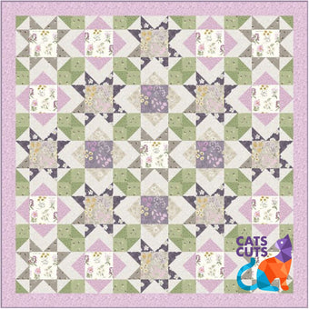 Botanic Garden Throw Size Quilt KitClick for more color options