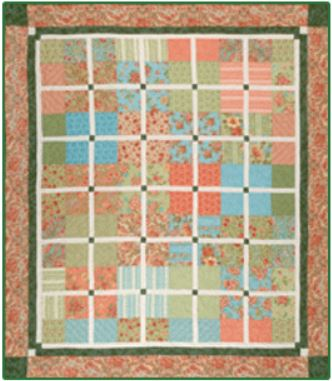 Cozy Quilt Designs Box Cake Pattern <br>  Click for fabric requirements