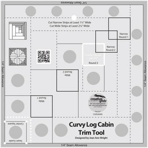 Creative Grids® Curvy Log Cabin Trim Tool 8-inch Finished