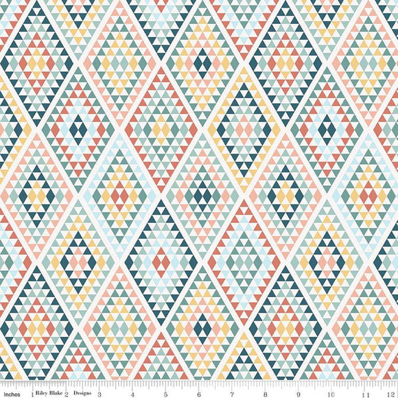 Riley Blake Dream Weaver--Cream Diamonds<br><STRONG>$9.96/YARD</strong><br>$2.49/Quarter Yard