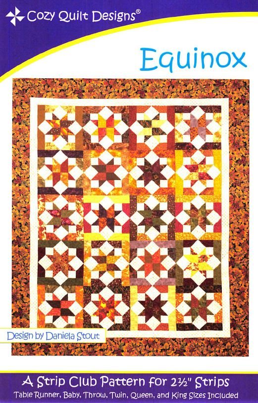 Cozy Quilt Designs Equinox Pattern <BR> Click for fabric requirements