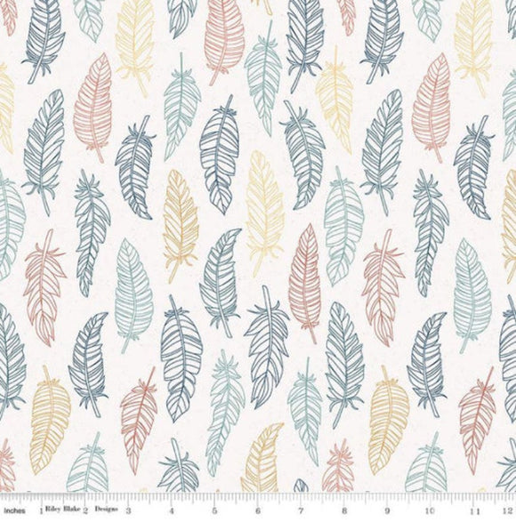 Riley Blake Dream Weaver--Cream Feathers<br><STRONG>$9.96/YARD</strong><br>$2.49/Quarter Yard