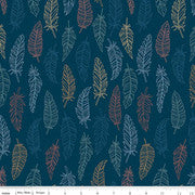 Riley Blake Dream Weaver--Navy Feathers<br><STRONG>$9.96/YARD</strong><br>$2.49/Quarter Yard