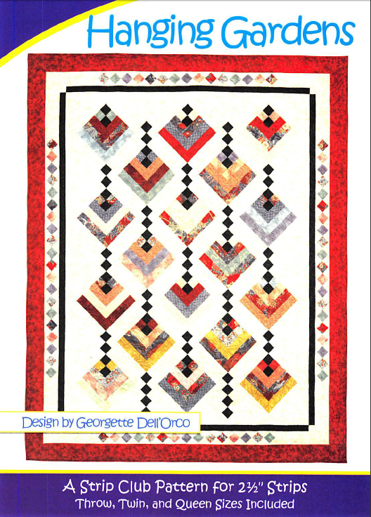 Cozy Quilt Designs Hanging Gardens Pattern <BR> Click for fabric requirements