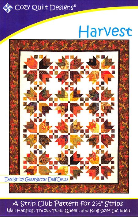 Cozy Quilt Designs Harvest Pattern <BR> Click for fabric requirements