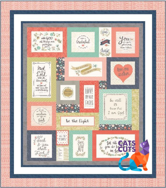 Heart and Soul Twin Size Quilt Kit--ON SALE!