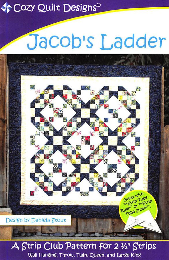 Cozy Quilt Designs Jacob's Ladder Pattern <BR> Click for fabric requirements
