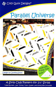 Cozy Quilt Designs Parallel Universe Pattern <br> Click for fabric requirements