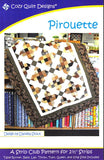Cozy Quilt Designs Pirouette Pattern <br> Click for fabric requirements
