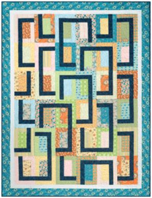 Cozy Quilt Designs Pop Ups Pattern <BR> Click for fabric requirements