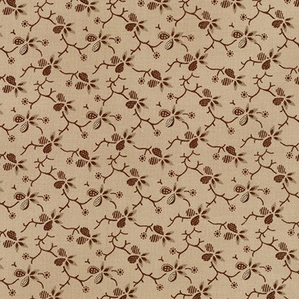 Robert Kaufman Charlotte c.1860 -- Floral on Natural <br><STRONG>$9.96/YARD</strong><br>$2.49/Quarter Yard