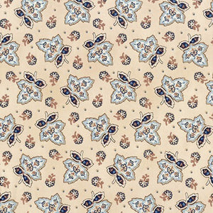 Robert Kaufman Charlotte c.1860 -- Leaves on Cream <STRONG>$9.96/YARD</strong><br>$2.49/Quarter Yard