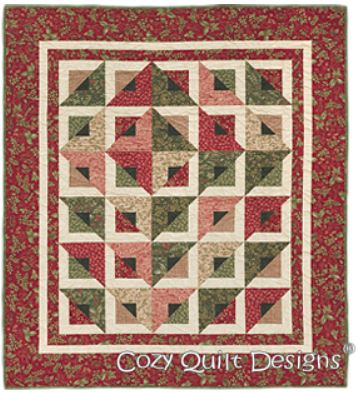 Cozy Quilt Designs Radiant Pattern <BR> Click for fabric requirements
